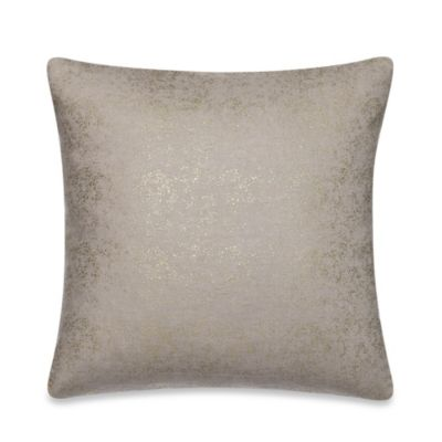 Kenneth Cole Reaction® Home Shade Printed Metallic Square Toss Pillow in Gold