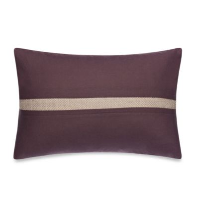 Kenneth Cole Reaction® Home Shade Metallic Inset Oblong Toss Pillow in Plum/Gold