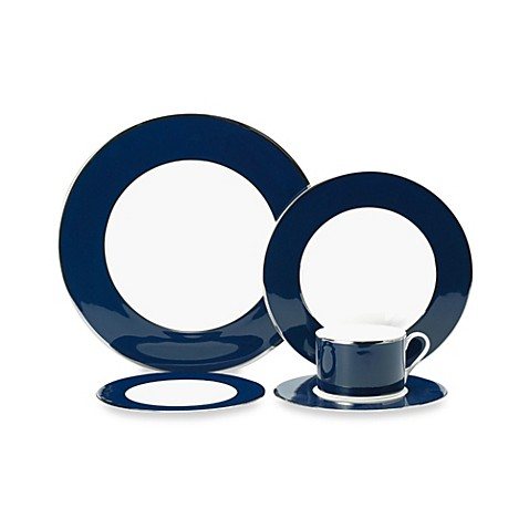 Mikasa® Color Studio Blue and Platinum 5-Piece Place Setting