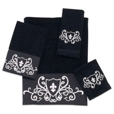 Avanti Ashbourne Washcloth in Black