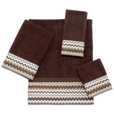 Avanti Chevron Bath Towel in Mocha