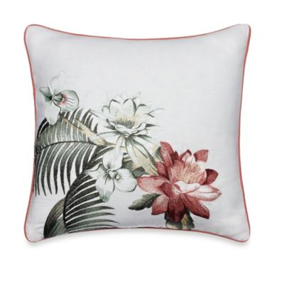 Tommy Bahama® Southern Breeze Botanical Embroidered Square Toss Pillow