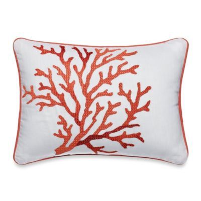 Tommy Bahama® Southern Breeze Coral Motif Oblong Toss Pillow