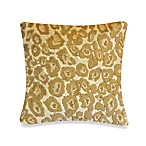Giraffe Velvet Toss Pillow in Taupe
