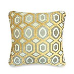 Pentagon Ogee Velvet Pillow in Gold