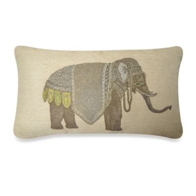 Olifant Oblong Throw Pillow