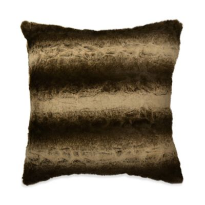 Mamboo Faux-Fur Square Toss Pillow