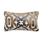 Plumb Ironwork Oblong Toss Pillow in Taupe/Grey
