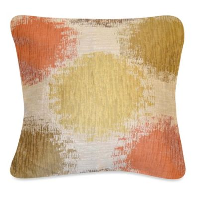 Stepping Stone Square Throw Pillow in Persimmon