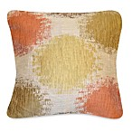 Stepping Stone Square Toss Pillow in Persimmon