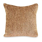 Caterpillar Square Toss Pillow in Cordovan