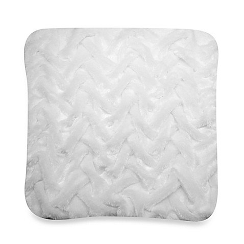 Lattice Fur Square Toss Pillow in White - Bed Bath & Beyond