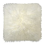 Mongolian Lamb Toss Pillow in Cream