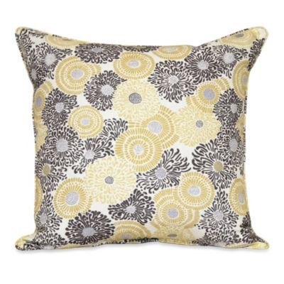 Kimono Square Throw Pillow in Storm