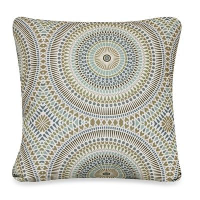 BadaBing Square Toss Pillow in Peacock
