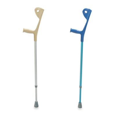 Drive Medical Aluminum Blue Euro Crutch