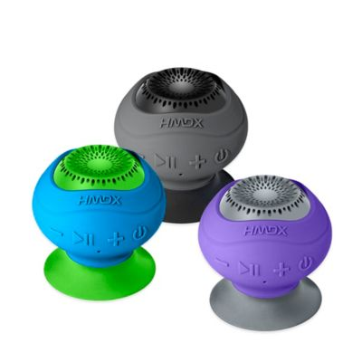 HMDX® Neutron™ Wireless Bluetooth® Suction Speaker in Purple/Grey