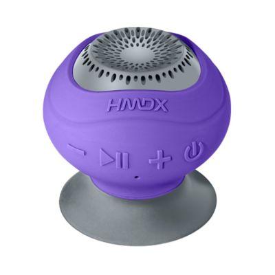 HMDX® Neutron™ Wireless Bluetooth® Suction Speaker in Purple/Grey