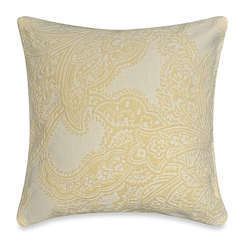 Zira Square Throw Pillow in Cream