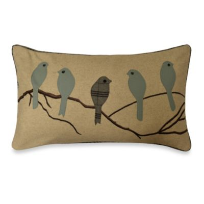 Five Perched Birds Toss Pillow