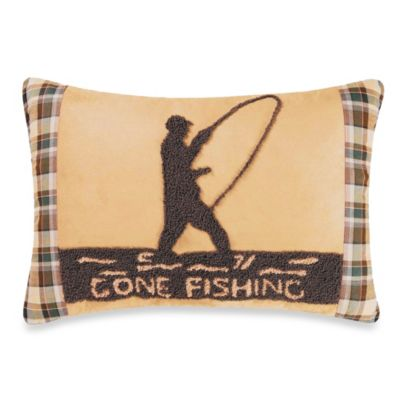 Gone Fishin Throw Pillow