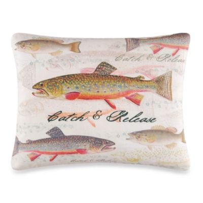 Catch and Release Throw Pillow