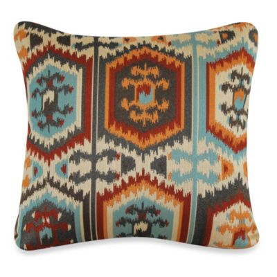 Pancho Villa Square Throw Pillow in Tangerine
