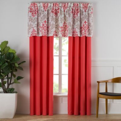 Buy coral curtain panels from bed bath amp beyond