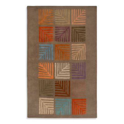 Anna Redmond Floral Light Brown 2-Foot x 3-Foot Area Rug