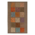Anna Redmond Floral Light Brown Area Rug