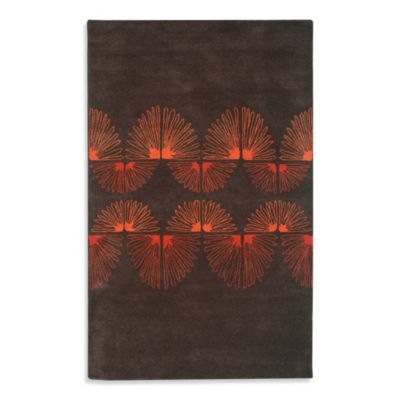 Rizzy Home Anna Redmond Area Rug in Brown/Orange