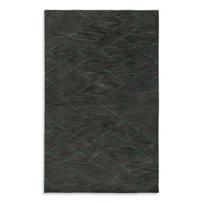 Anna Redmond Floral Dark Grey 3-Foot x 5-Foot Area Rug