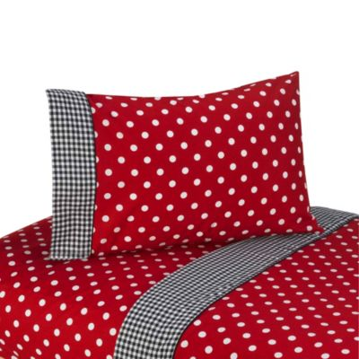 Sweet Jojo Designs Polka Dot Ladybug 3-Piece Twin Sheet Set