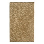 Anna Redmond Floral Light Gold Area Rug