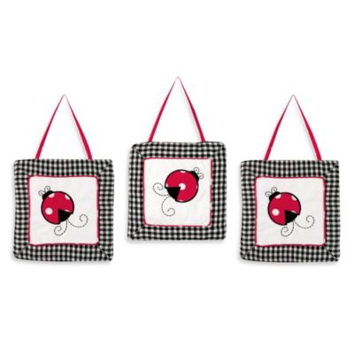 Sweet Jojo Designs Polka Dot Ladybug 3-Piece Wall Hanging Set