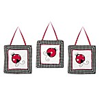 Sweet Jojo Designs Ladybug 3-Piece Wall Hanging Set