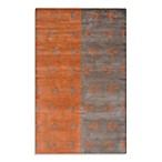Rizzy Home Anna Redmond Area Rug in Grey/Orange