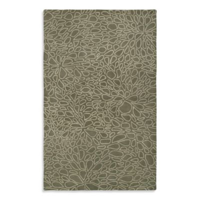 Anna Redmond Floral Light Grey 2-Foot x 3-Foot Area Rug