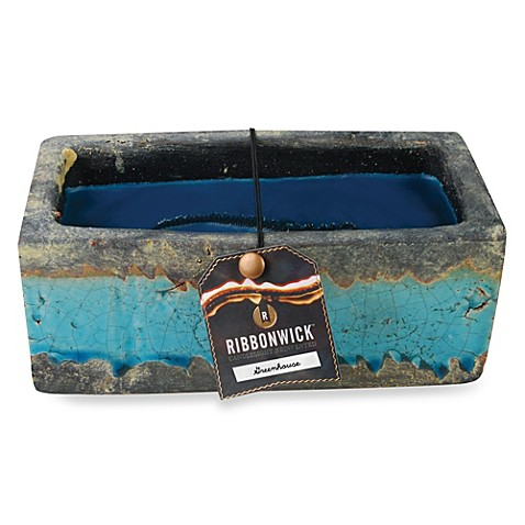 Ribbonwick Greenhouse Medium Scented Candle In Teal Bed