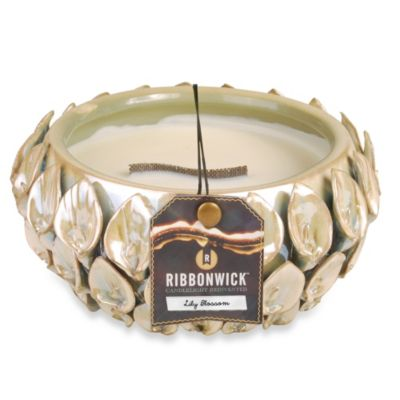 Ribbonwick™ Ceramic Flower Bound Lily Blossom Scented Candle