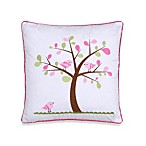 Isabella Embroidered Tree Square Toss Pillow