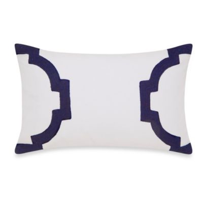 Jill Rosenwald Hampton Links Breakfast Throw Pillow in Navy/White