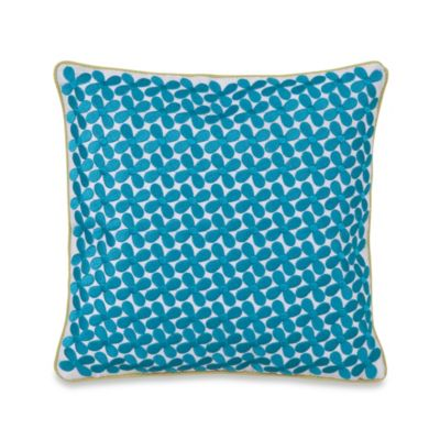 Collier Campbell Grandi Flora Square Throw Pillow in Blue