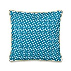 Collier Campbell Grandi Flora Square Toss Pillow in Blue