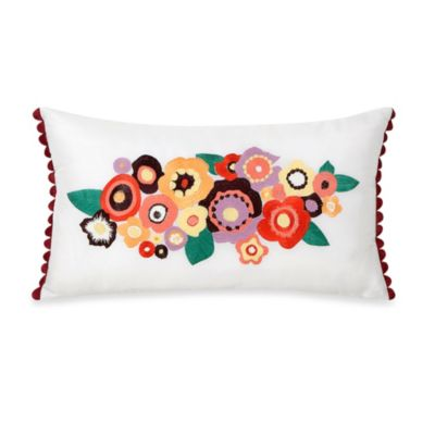 Collier Campbell Grandi Flora Oblong Toss Pillow in White