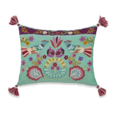 Singing Birds Oblong Throw Pillow