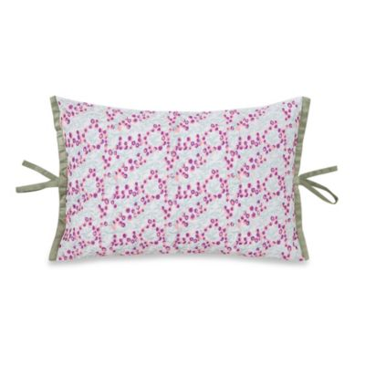 Collier Campbell Singing Birds Embroidered Oblong Throw Pillow