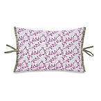 Collier Campbell Singing Birds Embroidered Oblong Toss Pillow