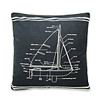 Sailboat Specification Square Toss Pillow