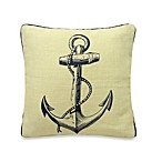 Penzance Anchor Print Square Toss Pillow